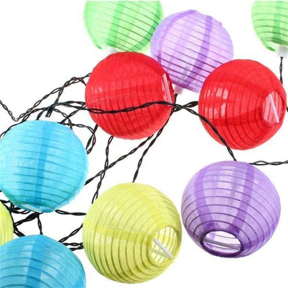 smzzz Solar Lights Outdoor Security Lighting Durable LED Light 10 LED Solar Powered Chinese Lantern Garden String White