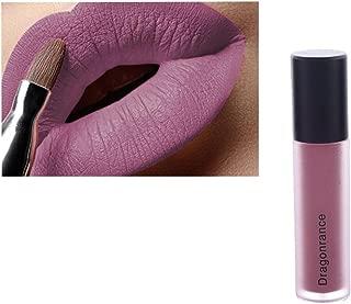 labios gruesos, Sannysis lápiz labial brillo barras de labios mate larga duracion cosméticos labial impermeable labios mate de maquillaje permanente 8ml (08)