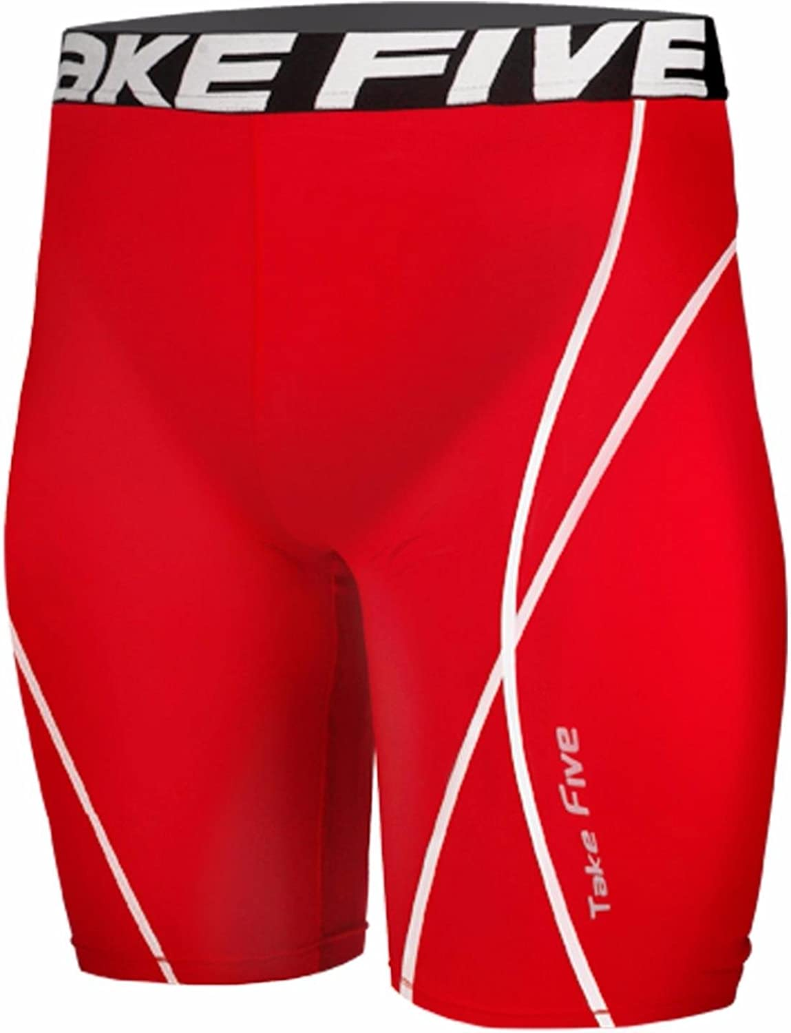 New 083 Skin Tights Compression Base Layer Red Running Short Pants Mens