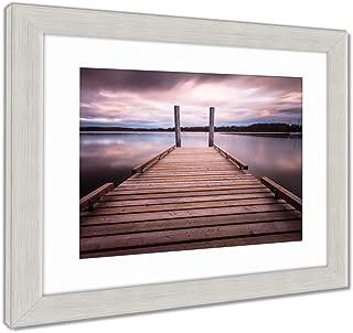 Ashley Framed Prints Comox Lake Vancouver Island, Wall Art Home Decoration, Color, 34x40 (Frame Size), Silver Frame, AG5988163