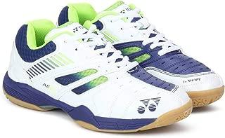 Yonex Junior Non Marking Badminton Shoes, White/Navy/Green