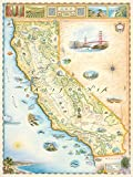 Kalifornien Landkarte, Wandkunst-Poster – authentische