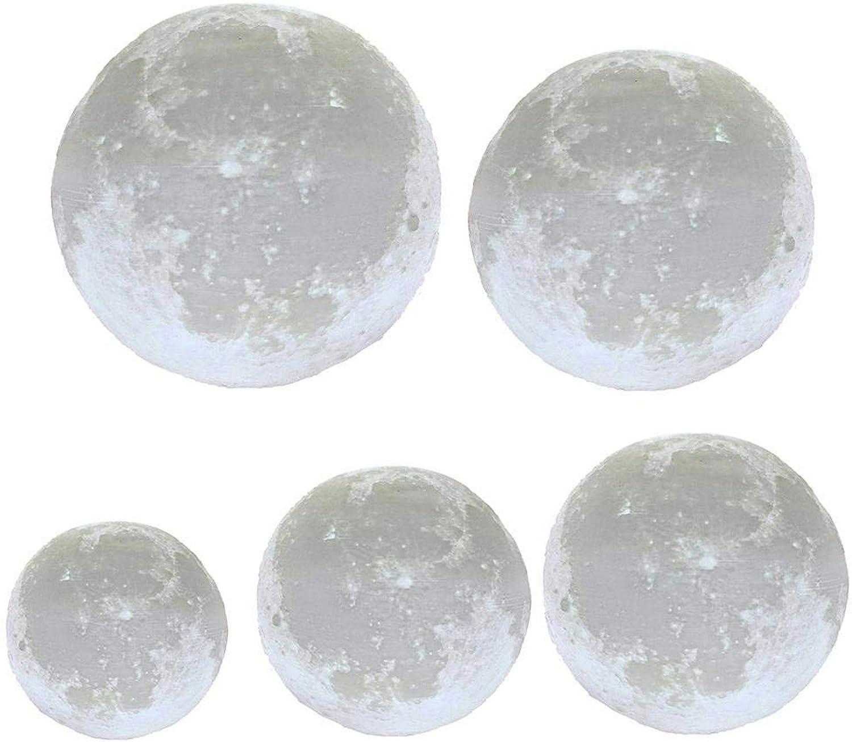 KKXXYD 820Cm Diameter 3D Print Moon Lamp USB Led Night Light Moonlight Gift Touch Sensor color Changing Night Lamp
