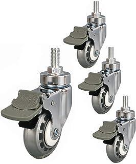Meubelbeker 75mm Rubber Swivel Castor Wielen Met Remmen Universele Casters Voor Apparatuur 7,6 cm 4 stks