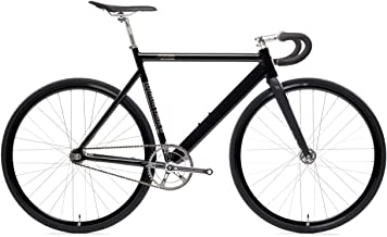 Black Label 6061 v2 Aluminum Fixed Gear Bicycle - Black Mirror, 57cm - Drop Bar