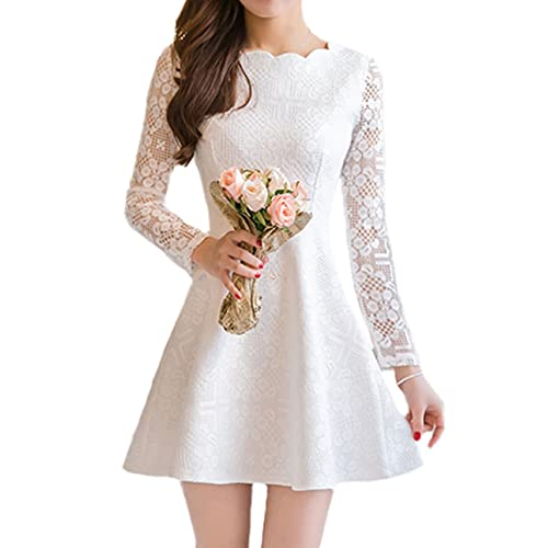 White Crochet Dresses: Amazon.com