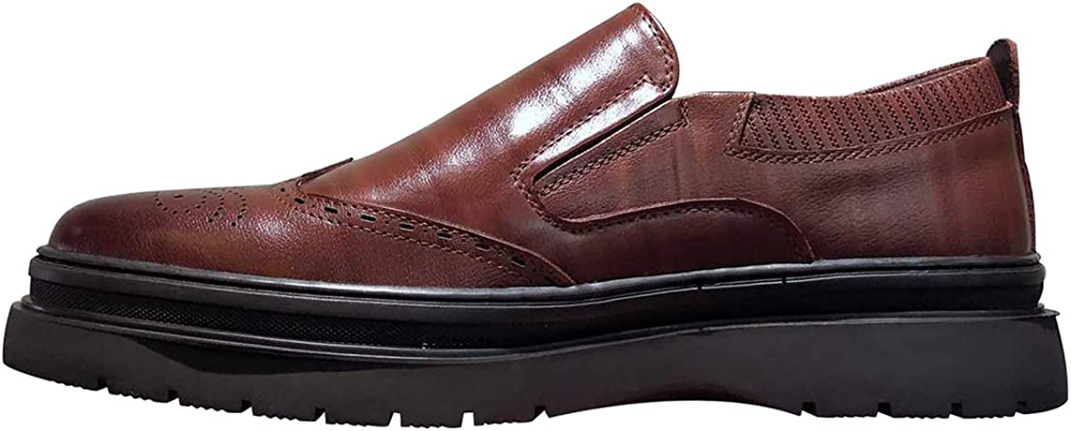 Men's Loafers Casual Slip On Comfort Oxfords Brogue Carvings Shoes