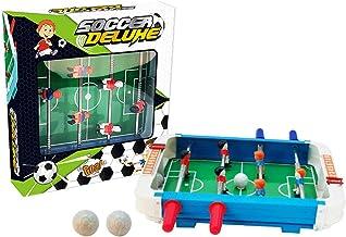 SXJC Juego De Mesa De Fútbol Juguetes De Fútbol para Niños Foosball De ABS Tablero Portátil Mini 27.5 * 26. * 5Cm, A Partir De 3 Años