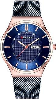 8311 Men Watch Quartz Brand Watch Wristwatch Calendar Time Display Stainless Steel Watch