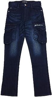 ミリタリーカーゴ ストレッチデニム カーゴパンツ メンズ レギュラーテーパード ワークパンツ C78W