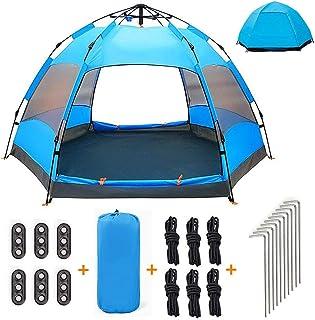 991cd27372d5a XISHUAI Qrout Tente de Camping 3-4 Personnes - 100% Anti UV Pop Up  Instantanée Tente Dôme Abri - Double Couche Étanche Automatique Grande Tente  pour ...