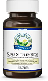 Nature's Sunshine Super Supplemental, 120 Tablets | Multivitamin for Men and Women Provides Vitamins, Minerals, Amino Acids, Herbs, Fruit Powders, Veggie Powders, and Carotenoids