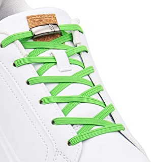 Upgraded Version No Tie Elastic Shoelaces, with Magnetic laces Lock - One Size Fits All Adult and Kids Shoes