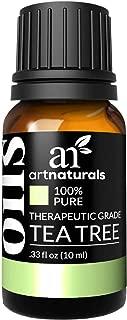 ArtNaturals 100% Pure Tea Tree Essential Oil - (.33 Fl Oz / 10ml) - Natural Premium Melaleuca Therapeutic Grade - Great with Soap and Shampoo, Face and Body Wash - Treatment for Acne, Lice
