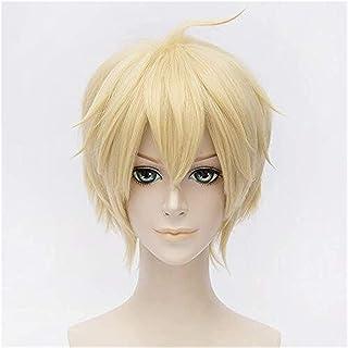 YYCHER Seraph of The End Mikaela Hyakuya Cosplay Wigs 30Cm Short Heat Resistant Synthetic Hair Perucas Cosplay Wig+Wig Cap
