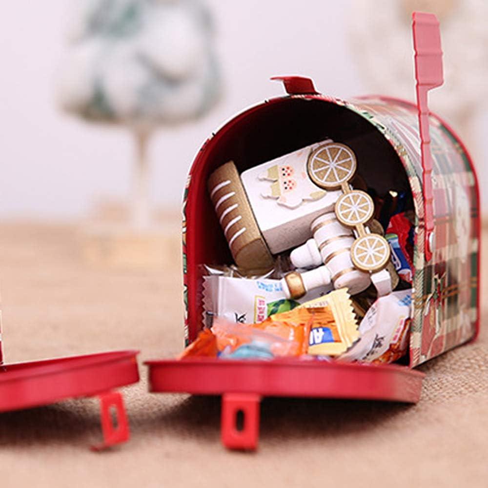 Coffee Small Items Design 1 FineInno Christmas Candy Tin Box Christmas Candy Tin Boxes Postal Can Spices Tea Storage for Sugar