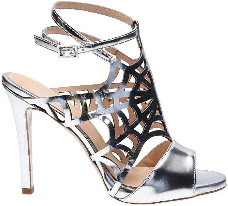 MOHAI Women's 4902MOHSILVER Silver Leather Sandals