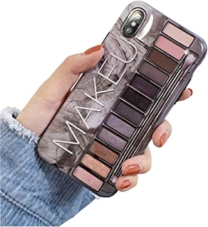 BONTOUJOUR iPhone Xs Max Case, Stylish Luxury Eye Shadow Makeup Pallete Phone Case, Girl Fashion Eye Shadow Box Soft TPU Cover Case Glossy Surface Good Protection-Grey