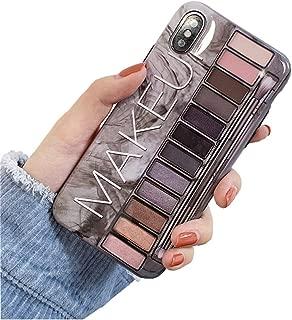 BONTOUJOUR iPhone Xs Max Case, Stylish Luxury Eye Shadow Makeup Pallete Phone Case, Girl Fashion Eye Shadow Box Soft TPU Cover Case Glossy Surface Good Protection-Grey