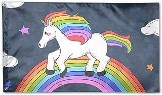 Rainbow Unicorn Horse Home Garden Flags Polyester Flag Indoor/Outdoor Wall Banners Decorative Flag Garden Flag 3x5 Foot