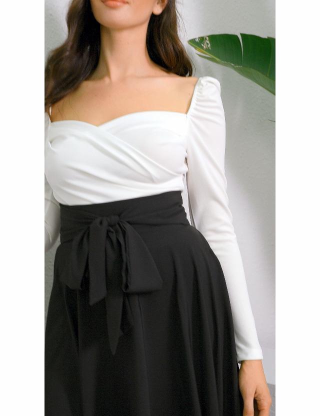 SweatyRocks Women's Elegant High Waist Skirt Tie Front Pleated Maxi Skirts