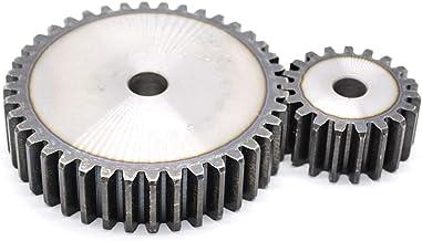 Spur gear made of steel C45 with hub module 2.5 14 teeth tooth width 20mm outside diameter 40mm