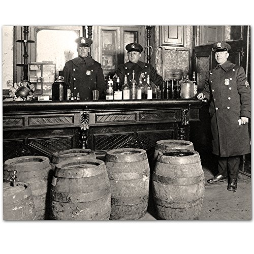 Prohibition - Dark Times - 11x14 Unframed Print - Makes a Great Gift Under $15 for Man Cave or Home Bar Decor