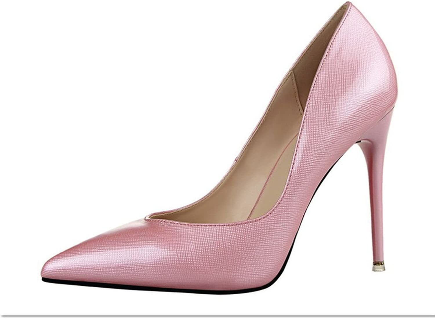Ryse Women's Fashionable Noble Leather Elegant Temperament High Heels Pointy shoes