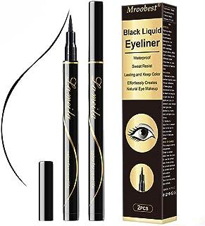 Eyeliner, Eyeliner Waterproof, Eyeliner Negro, Delineador De Ojos Waterproof, Miniatura de precisión, altamente pigmentada, resistente al agua Secado rápido Delineador de ojos duradero