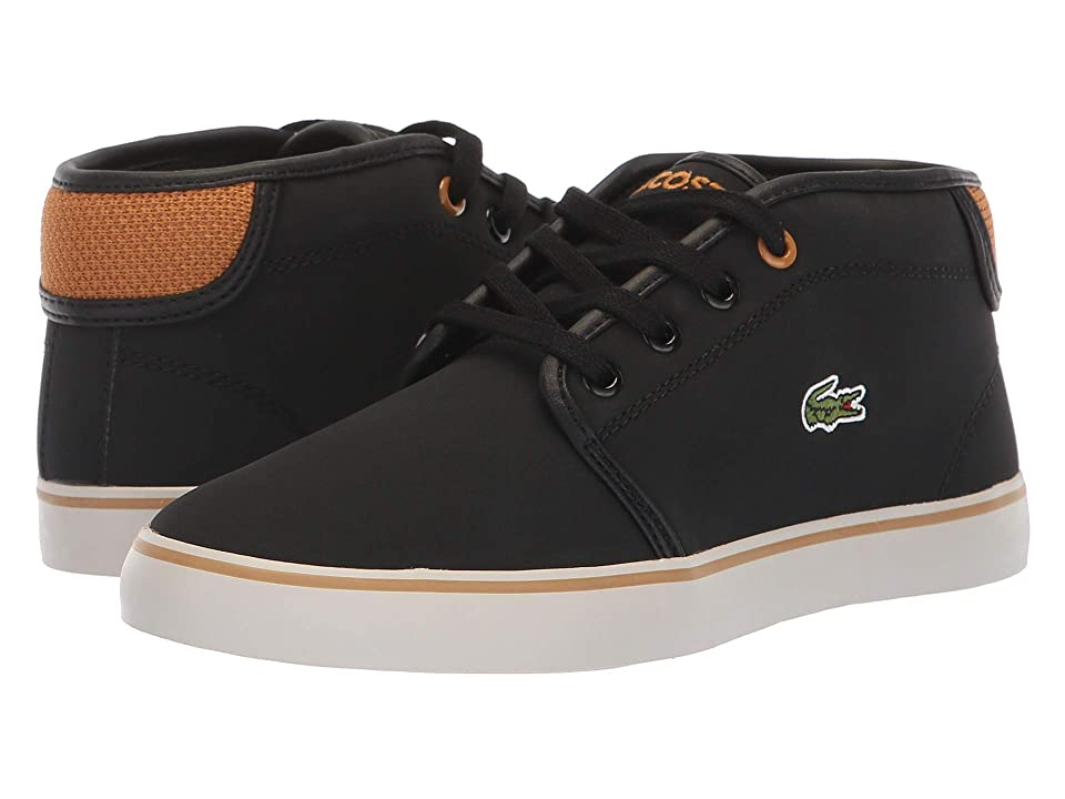Lacoste Kids Ampthill 318 (Little Kid) (Black/Dark Tan) Kid