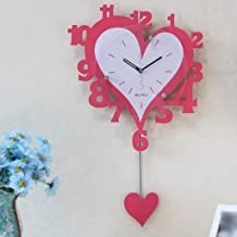 Watches And Clocks Personalized Clock Cartoon Wall Clock Creative Living Room Heart-shaped Pendulum Clock Silent Wall Cloc...