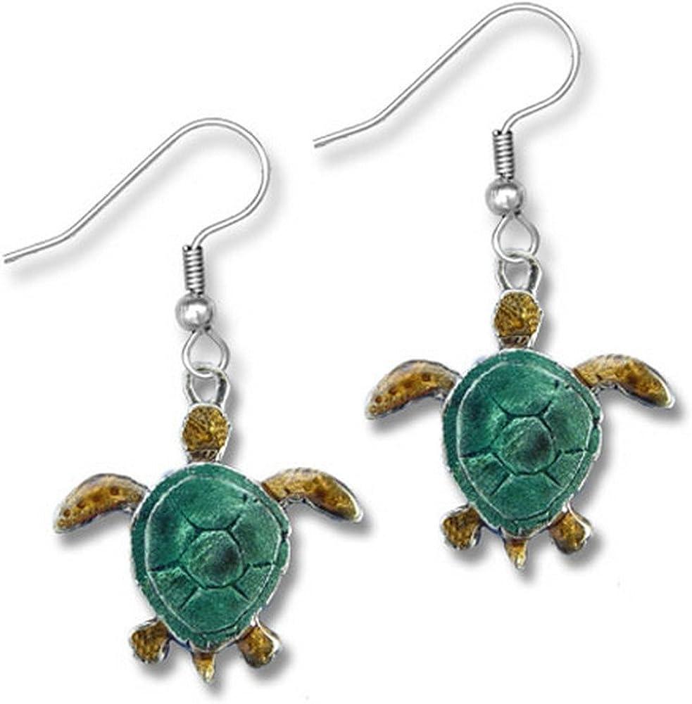 Enamel Green 送料無料激安祭 Sea Turtle Earrings Zoo 直営店 Magic The by