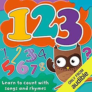 123: Learn to Count with Songs and Rhymes audiobook cover art