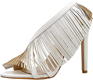 Women Heel Sandals Women's Ladies Fashion Pointed Toe Thin High Heel Sandals Shoes 34-39
