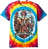 Liquid Blue Men's Grateful Dead Rainbow Bertha Short Sleeve T-Shirt, Multi Tie Dye, 2XL