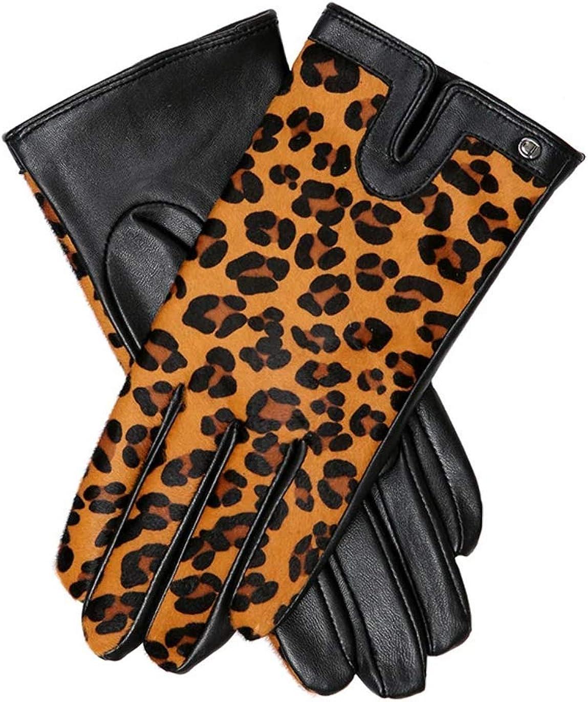 Dents Womens Violet Gloves - Black/Tan