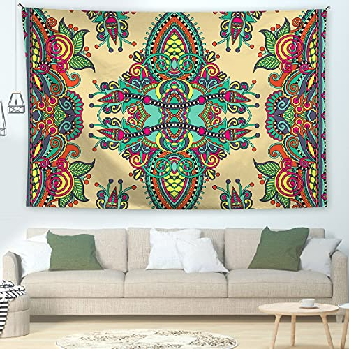 KHKJ Tapiz de Mandala Tapiz Floral boceto Tapiz de Planta de Flor Tapiz Hippie Bohemio para Dormitorio decoración del hogar A7 230x180cm