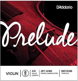 D'Addario Prelude Violin Single E String, 4/4 Scale, Medium Tension