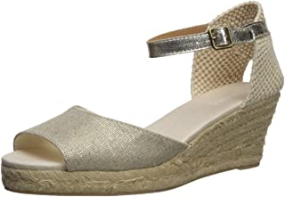 Soludos Women's Open-Toe midwedge (70mm) Espadrille Wedge Sandal, Platinum, 9.5 Regular US