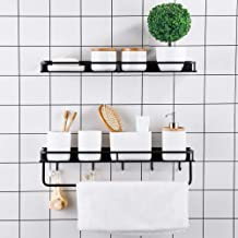 Bathroom Kitchen Organizer Storage Shelf, Over the Toilet Storage Shelves Spice Racks (Bathroom Shelf)