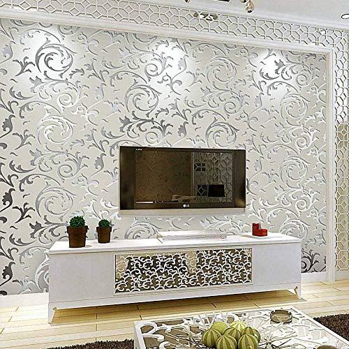 Tapete Klebefolie für Möbel Barock-Design für Wohnzimmer, Küche, Esszimmer, TV-Hintergrund, 10 x...