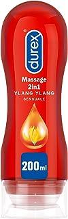 Durex Massage 2 in 1 Sensual Lubrificante Intimo e Gel Stimolante a Base Acqua con Ylang Ylang, 200ml
