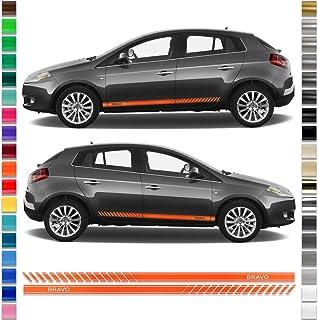 Auto-Dress/® colore a scelta Set di strisce adesive laterali per FIAT Bravo
