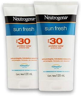 Kit com 2 Protetores Solar NEUTROGENA Sun Fresh FPS 30 120ml