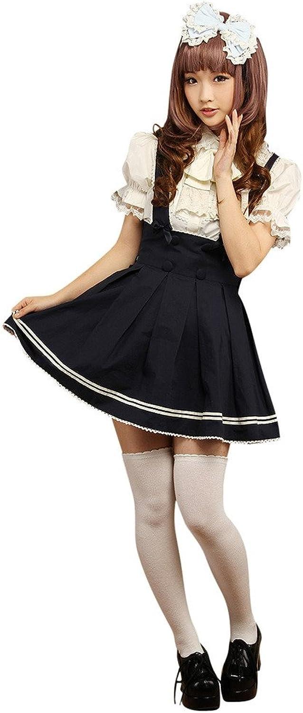 Hugme Sweet Dark Navy Drawstring Pure Cotton Lolita Skirts