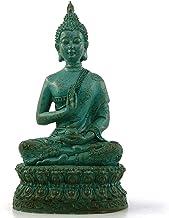 (Green) - Ornerx Thai Sitting Buddha Statue for Home Decor Verdigris 17cm