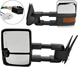Towing Mirrors with LED Signal Clearance Light Side Mirrors for 1999-2002 Chevrolet /GMC Silverado/Sierra Power Heated Manual Telescoping Tow Mirrors