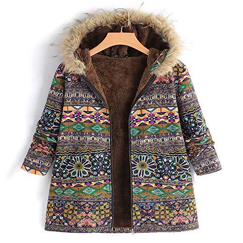 Mr.BaoLong&Miss.GO Herbst und Winter Neue Damen Mantel warmen Hoodie gedruckt übergroßen Langarm-Mantel
