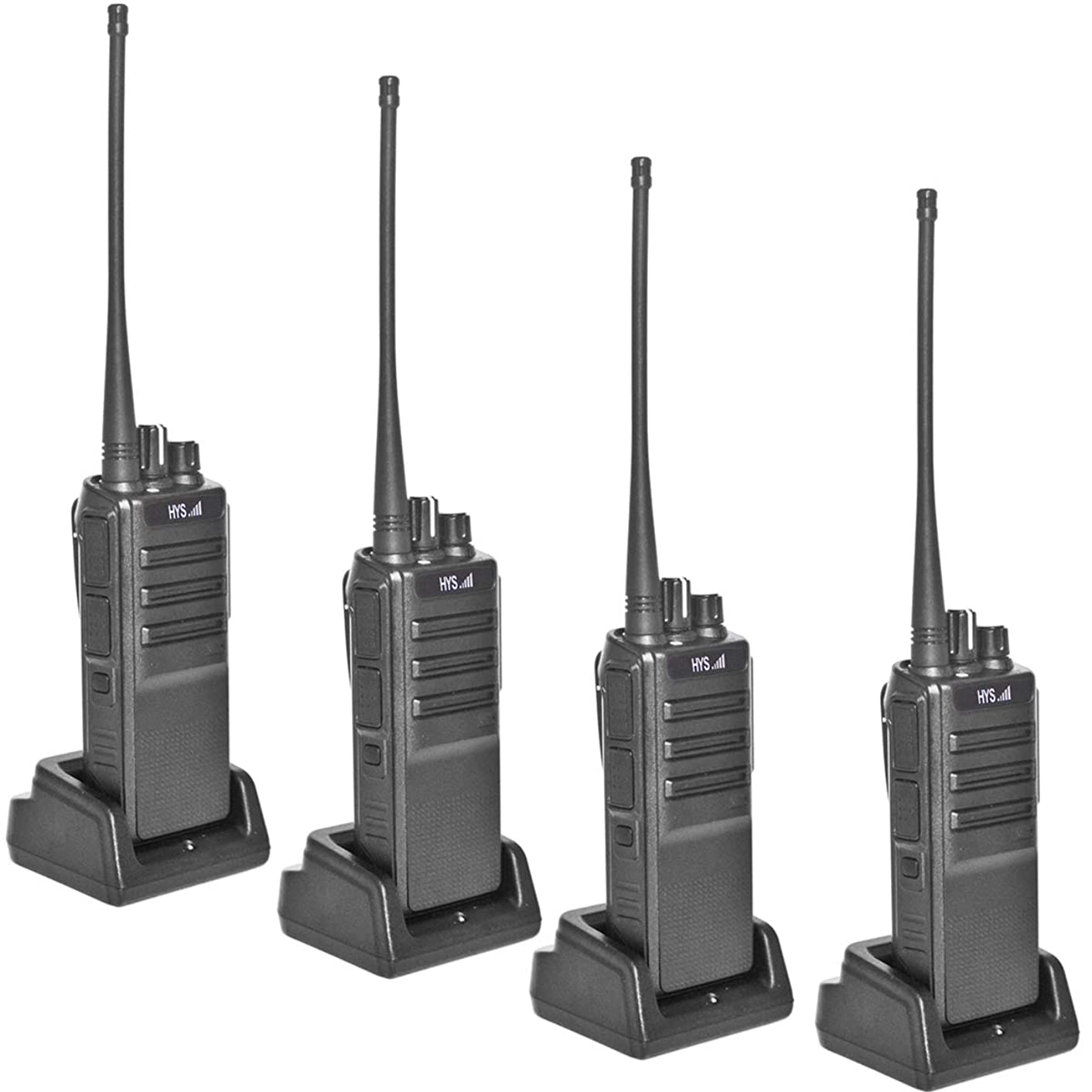 HYS TC-L10U 2 Way Radios Long Range Rechargeable FRS Two Way Radio Vox Security 10W Walkie Talkies with 3000mAh Battery and USB Programming Cable(4Pack)