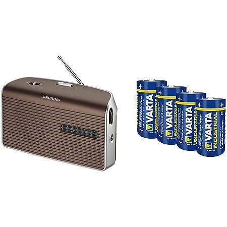 Grundig Music 60 Empfangsstarkes Radio Im Modernen Design Brown Silver Varta Industrial Alkaline Batterie Baby C Lr14 4er Pack Audio Hifi